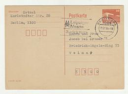 Germany DDR Postal Stationery Postcard Posted 1989 - Leipziger Messe Slogan Postmark 210120 - Postales - Usados