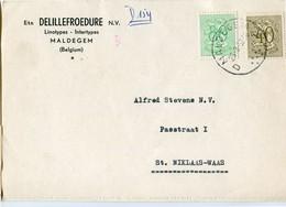 1957 1 Plikart(en) - Postkaart(en) - Zie Zegels, Stempels, Hoofding Ets DELILLEFROEDURE Maldegem Linotypes Intertypes - Covers & Documents