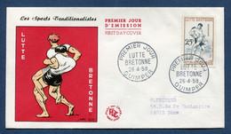 ⭐ France - Premier Jour - FDC - Lutte Bretonne - 1958 ⭐ - 1950-1959