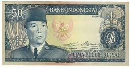 INDONESIA50RUPIAH1960P85UNCWatermark Buffalo -85B.CV. - Indonesia