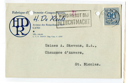 1952 1 Plikart(en) - Postkaart(en) - Zie Zegels, Stempels, Hoofding H. DE RAEDT Gand Gent Coupe Sport Trofee - Covers & Documents