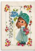 Big Eyes. Petite Fille Et Rose Bleue - Contemporanea (a Partire Dal 1950)