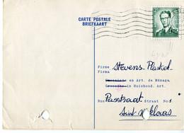 1960 1 Plikart(en) - Postkaart(en) - Zie Zegels, Stempels, Hoofding BENOIT DE WOLF Alost - Huishoud - Art. Ménage - Covers & Documents