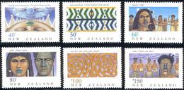 New Zealand, 1990, Michel 1128-1133,New Zealand Heritage-The Maori (waiata Song And Haka Maori War Dance), 6v, MNH - Music