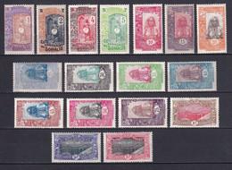 COTE DES SOMALIS - 1915 - SERIE COMPLETE YVERT N° 83/99 * MLH - COTE 2020 = 54 EUR. - Neufs