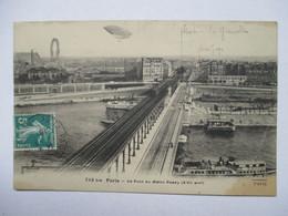 PARIS  - LE  PONT    DU  METRO   PASSY  .....  DIRIGEABLE        TTB - Transporte Público