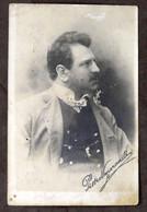 Fotocartolina Con Autografo Tenore Pietro Venerandi - 1910 Ca. - Handtekening