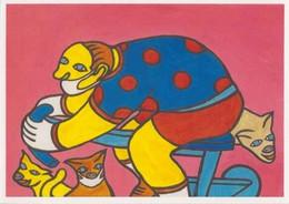 Cpm 1741/660 ERGON - Homme à Bicyclette - Chat - Vélo - Cyclisme - Bicycle - Illustrateur - Peintre - Ergon