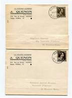 1954/56 2 Plikart(en) - Postkaart(en) - Zie Zegels, Stempels, Hoofding J. QUENON Hornu - LES POELERIES MODERNES - Covers & Documents