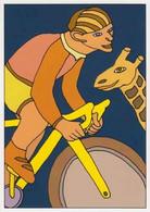 Cpm 1741/664 ERGON - Homme à Bicyclette - Girafe - Vélo - Cyclisme - Bicycle - Illustrateur - Peintre - Ergon