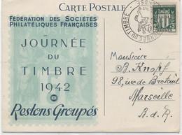 31 - TOULOUSE : JOURNEE DU TIMBRE  1942 - 1921-1960: Période Moderne