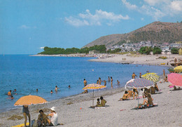 PALIZZI - REGGIO CALABRIA - LA SPIAGGIA IN ESTATE E PANORAMA DEL PAESE - 1984 - Reggio Calabria