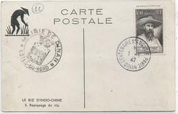 22- DINAN / OBLITERATION TEMPORAIRE Sur Carte Postale  -Repiquage Du Riz - 1921-1960: Période Moderne
