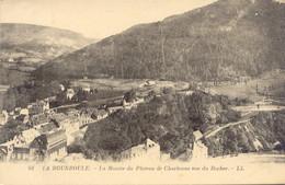CPA -LA BOURBOULE - MONTEE DU PLATEAU DE CHARLANNE, VUE DU ROCHER - La Bourboule