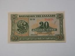 GRECIA 20 DRACHMAI 1940 - Grecia
