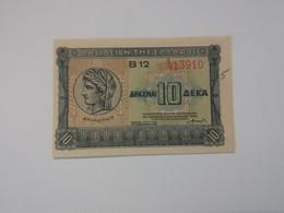 GRECIA 10 DRACHMAI 1940 - Grecia