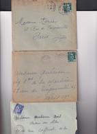 14 Enveloppes Avec Cachets  De Gare Différents Dont : Marseille-gare Sur TP Tunisiens Etc. VOIR SCANS - 1921-1960: Période Moderne