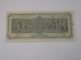 GRECIA 2000 DRACHMAI 1944 - Grecia