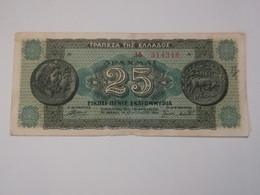 GRECIA 25 DRACHMAI 1944 - Grecia