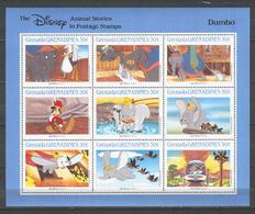 Disney Grenada Gr 1988 Animal Stories - Dumbo Sheetlet MNH - Disney
