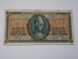 GRECIA 5000 DRACHMAI 1943 - Grecia