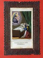 Image Pieuse - Dentelle - MARIE, SALUT DES INFIRMES ! - 9.5 Cm X 6 Cm - Imágenes Religiosas