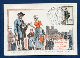 ⭐ France - FDC - Premier Jour - Carte Maximum - Journée Du Timbre - 1961 ⭐ - 1960-69