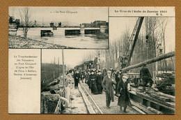 "ARSONVAL-JAUCOURT  (10) : "" TRANSBORDEMENT DES VOYAGEURS - Ligne De L'Est "" CRUE 1910 - Sonstige Gemeinden"