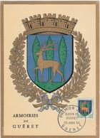 Carte Maximum FRANCE 1962/65 - N°Y&T 1351B (GUERET - ARMOIRIES) Obl Sp 1er Jour 25/01/1964 (Ed Imbert) - 1960-69