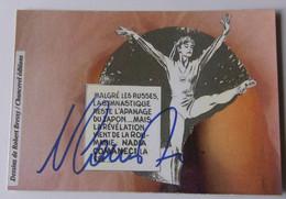 Gymnastique - Nadia COMANECI - Dédicace - Hand Signed - Autographe Authentique  - - Ginnastica