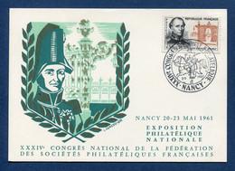 ⭐ France - FDC - Premier Jour - Carte Maximum - Congrès National Philatélique - 1961 ⭐ - 1960-69