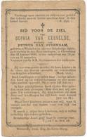 Wichelen / Serskamp / Doodsprent / Bidprent  / 1890 - Imágenes Religiosas