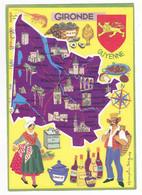 33 Le Département De La Gironde Illustrateur Françoise Dague Bordeaux Arcachon Spécialités - Bordeaux
