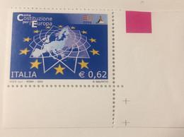 2004 - Italia - Una Costituzione Per L'Europa . E. 0,62 - 2001-10:  Nuovi