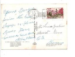 ANDORRE SEUL SUR CARTE POUR LA FRANCE 1973 - Cartas