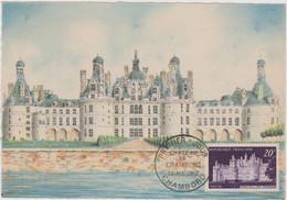 FRANCE 1952 CARTE MAXIMUM 1er Jour Château De Chambord N°YT 924 Cachet 1er Jour 30.5 1952 Editions BD - 1950-59