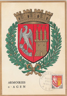 Carte Maximum FRANCE 1962/65 - N°Y&T 1353A (AGEN - ARMOIRIES) Obl Sp 1er Jour 16/05/1964 (Ed Imbert) - 1960-69