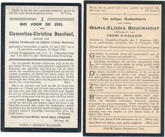 Schuiferskapelle / 2x Doodsprent / Bidprent  / 1920 / 1933 - Imágenes Religiosas