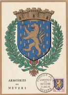 Carte Maximum FRANCE 1962/65 - N°Y&T 1354 (NEVERS - ARMOIRIES) Obl Sp 1er Jour 21/07/1962 (Ed Imbert) - 1960-69