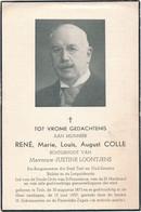 Tielt / Doodsprent / Bidprent  / Burgemeester En Senator COLLE / 1957 - Imágenes Religiosas