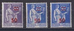 FRANCE Y&T N ° 478  479  Et  482  NEUF ** - 1932-39 Paix