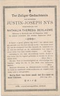 Kortrijk / Doodsprent / Bidprent  / 1898 - Imágenes Religiosas