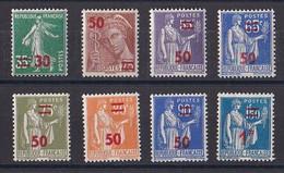 FRANCE Y&T N ° 476 A 482 Et 485  NEUF ** - 1932-39 Paix