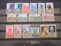 ITALIA REPUBBLICA - 1954 INSIEME DI 16 VALORI - NUOVI(++) - 1946-60: Nieuw/plakker