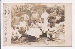 CARTE PHOTO  MILITARIA Militaires Souvenir De L'hopital De Fez 25 Aout 1914 - Personnages