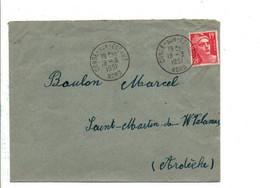 GANDON SUR LETTRE DE CONDE SUR ESCAUT NORD 1951 - 1921-1960: Période Moderne