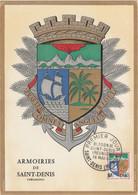 Carte Maximum FRANCE 1962/65 - N°Y&T 1354A (SAINT-DENIS - ARMOIRIES) Obl Sp 1er Jour 16/05/1964 (Ed Imbert) - 1960-69