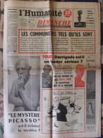 Journal L'Humanité Dimanche (15 Juillet 1956) Picasso - Euratom - Darrigade - Toubib Du Tour - F Périer - - 1950 - Nu