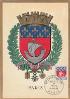 Carte Maximum FRANCE 1962/65 - N°Y&T 1354B (PARIS - ARMOIRIES) Obl Sp 1er Jour 16/01/1965 (Ed Imbert) - 1960-69