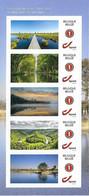 Belg. 2021 - Cours D'eau En Belgique ** (5 Timbres Auto-adhésifs) - Ungebraucht